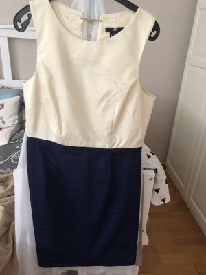 Mango Sheath Dress natural white-blue