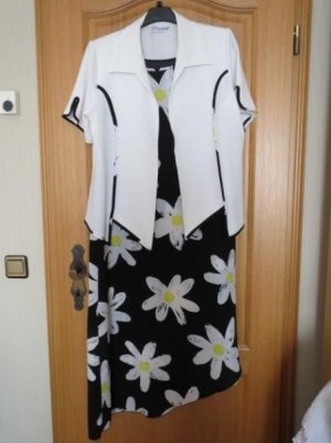 Kleid mit Jäckchen, Gr.42/44, schwarz-weiß