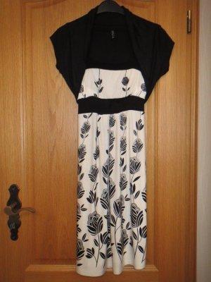 Kleid, mit Jäckchen, Gr.XS/S, schwarz-weiß