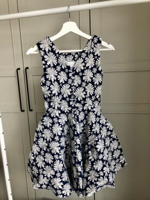 Pinafore skirt dark blue-white