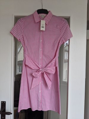 Miss Selfridge Vestido a media pierna blanco-rosa