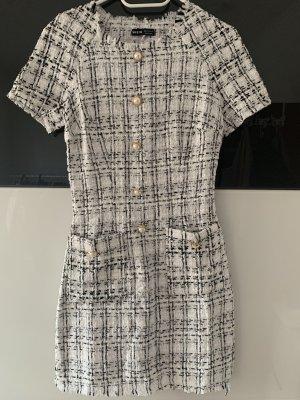 Kleid mit Knöpfen und Plaid Muster