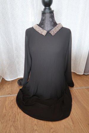 Italia Moda Vestido camisero negro