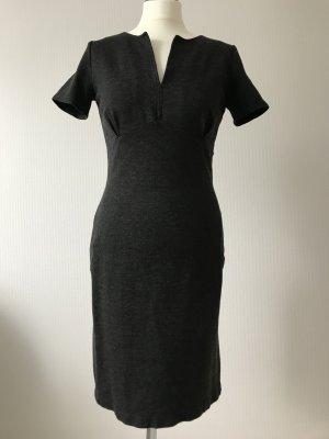Kleid mit Kurzarm, grau meliert