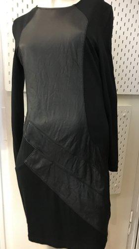 Steffen Schraut Vestido de cuero negro