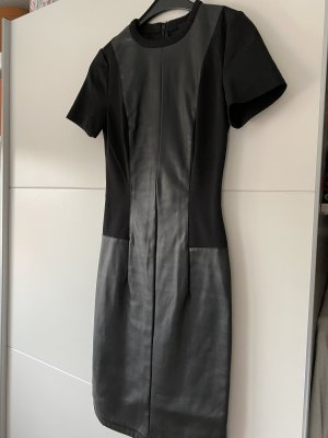 Asos Vestido de cuero negro