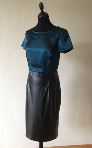 Kleid mit Ledereinsatz