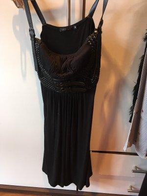 Kleid mit Lederträger