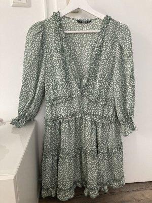 Kleid mit Leo-Muster und Rüschen SHEIN Neu