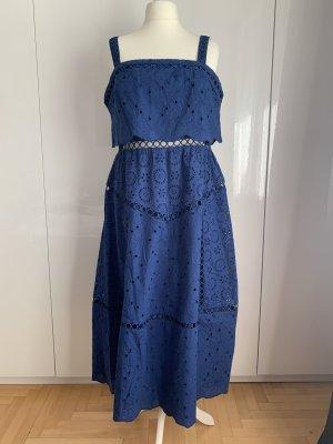 Asos Tall Sukienka midi niebieski Bawełna