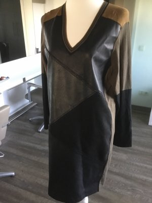 Expresso Leather Dress multicolored