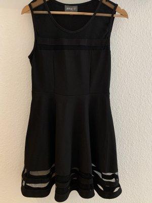 Apricot Robe épaules nues noir polyester