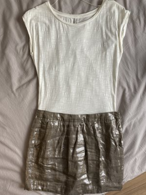 Kleid mit Metallic-Rock