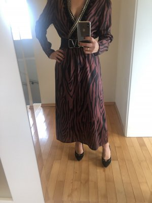 Altamira Milano Maxi Dress brown-black polyester
