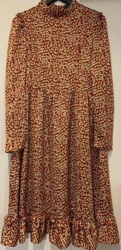 Kleid mit Muster, midi
