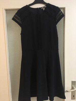 H&M Falda estilo lápiz azul oscuro