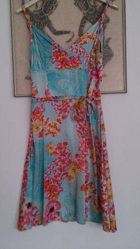 Kleid mit Orchideenprint