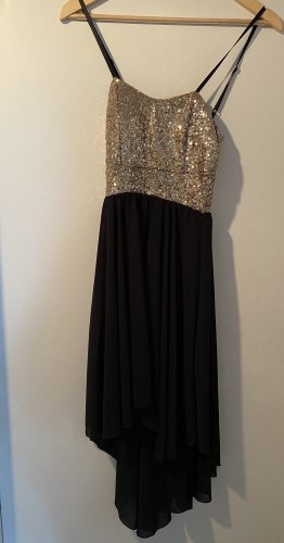 High Low Dress black-gold-colored