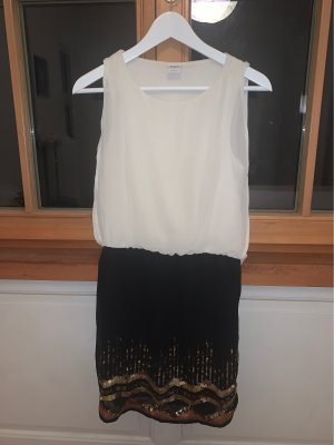 Vero Moda Sequin Dress black-natural white