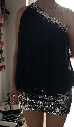 Vestido de lentejuelas negro-blanco