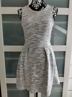 Kleid mit Pailletten grau H&M Größe 36