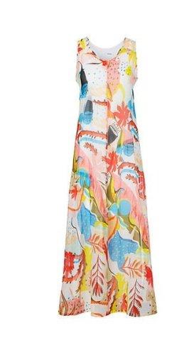 Kleid  mit Papaya-Print Marc Cain 2 Teilig Gr. 2 ca. 36 -38