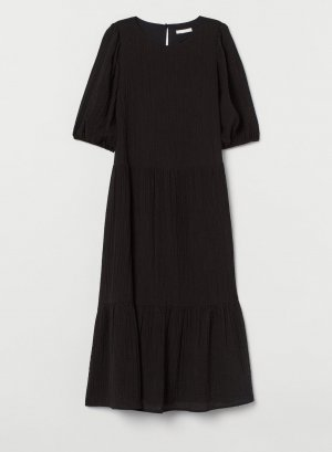 Kleid mit Puffärmeln Gr S 36