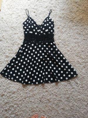 Kleid mit Punkten Sommerkleid Abendkleid