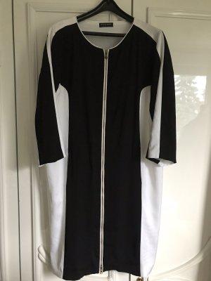 Blacky Dress Midi-jurk zwart-wit
