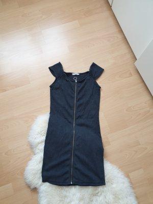 Kleid mit Reisverschluss vorne Grau Grösse S Mango
