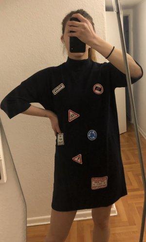 H&M Trend Sukienka dresowa ciemnoniebieski
