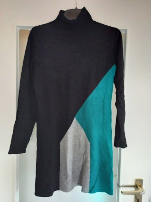 keine Sweater Dress black-cadet blue