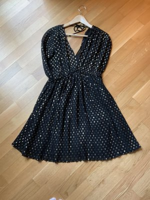 Zara Sukienka typu babydoll czarny-złoto
