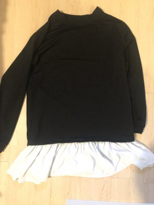 Asos Sweatjurk zwart-wit
