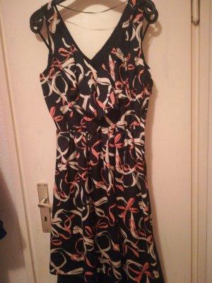 HM Flounce Dress multicolored silk