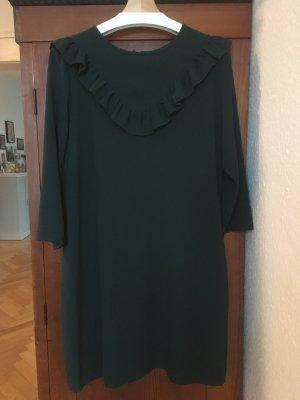 H&M Vestido tipo túnica verde oscuro