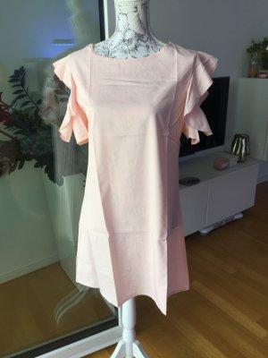 Kleid mit Rüschen Rose Gr L neu