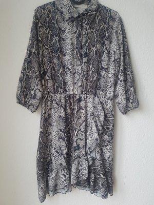 New Collection italy Sukienka z falbanami antracyt