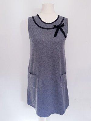 Kleid mit Schleife grau Viskose neu Xs S