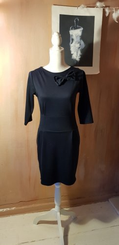 Kleid mit Schleife in Dunkelblau S/M