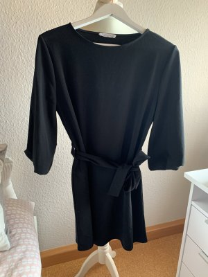 Mango Vestido de manga larga negro