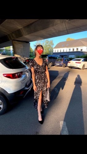 Kleid mit Schlitz EINMAL GETRAGEN
