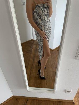 Kleid mit Schlitzen in schlangenoptik Gr.S
