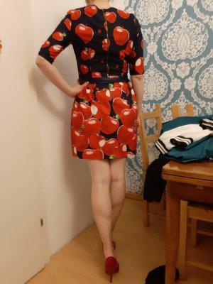 Petticoat Dress dark blue-brick red polyester