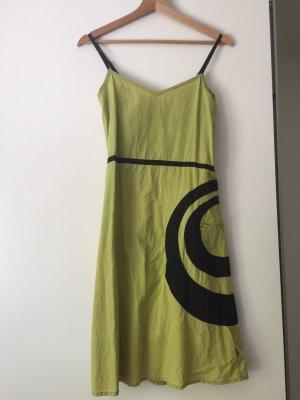 Taramar Abito hippie nero-verde Cotone