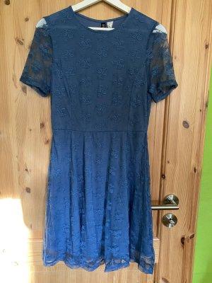 H&M Divided Lace Dress steel blue