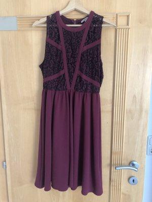 Anna Field Sukienka midi purpurowy-czarny