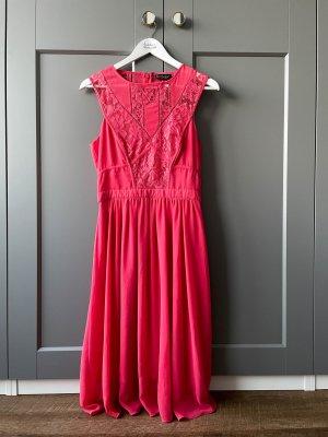 Kleid mit Spitze von Warehouse korallfarben Größe 36 Hochzeitsgast Kleid