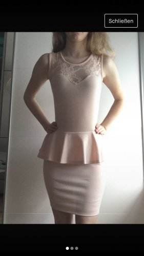 Club L Robe péplum rosé