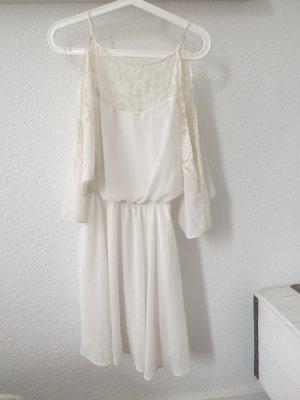 Asos Off-The-Shoulder Dress white-cream